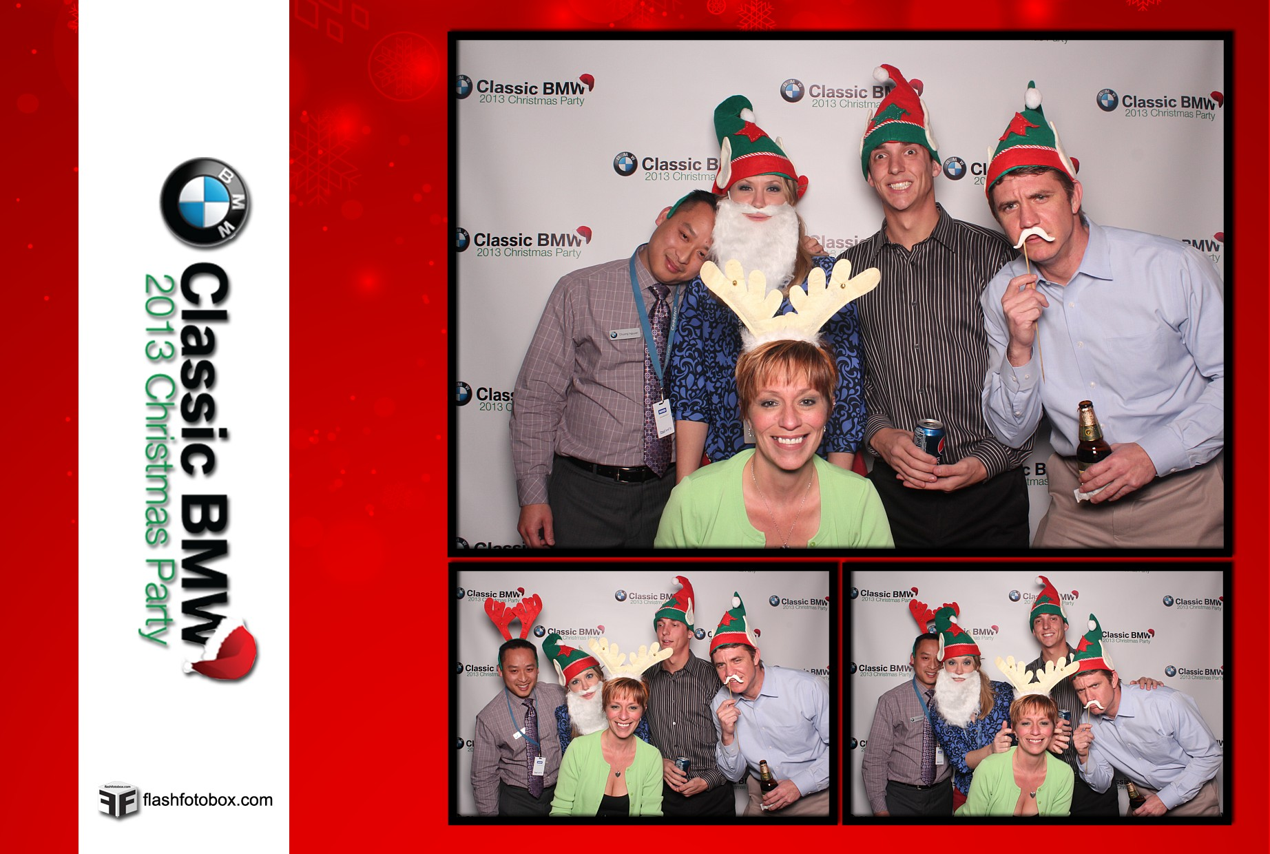 Classic BMW Christmas Party 2013 - Wedding Photobooth Rental in
